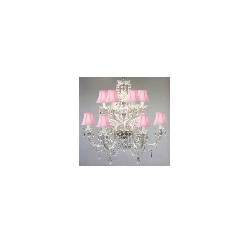 Gallery T40-287 Murano Venetian 12 Light 2 Tier Crystal Chandelier