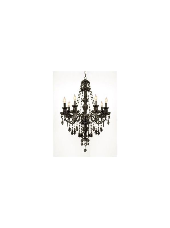 Gallery T40-332 7 Light 1 Tier Crystal Candle Style Chandelier with