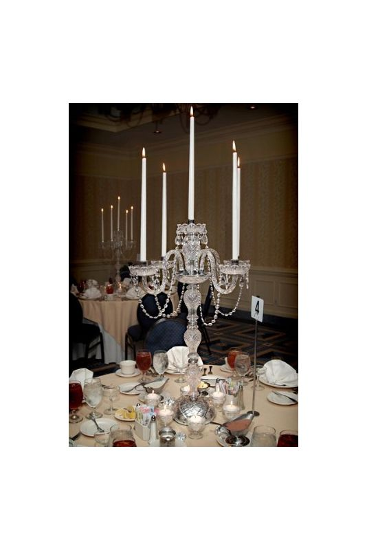 Gallery T40-337 5 Candle Candelabra Centerpiece with Crystal Accents -