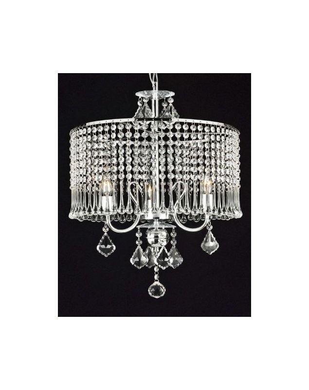 Gallery T40-370 3 Light 1 Tier Crystal Mini Chandelier with Clear