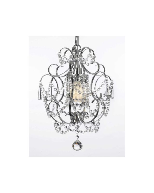 Gallery T40-371 1 Light 1 Tier Crystal Mini Chandelier with Clear