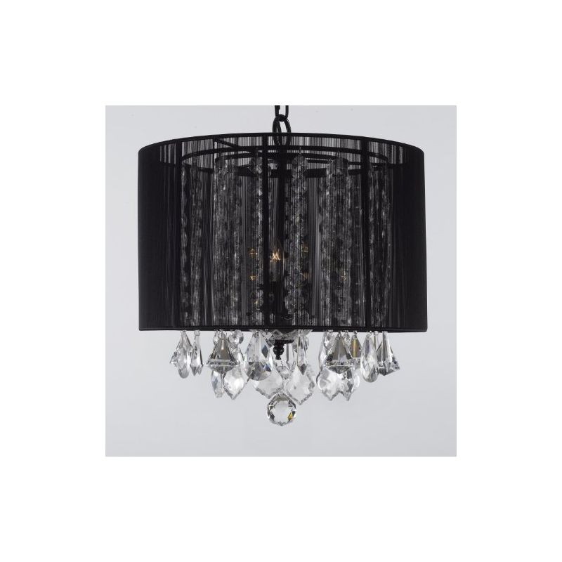 Gallery T40-383 3 Light 1 Tier Crystal Mini Chandelier with Clear