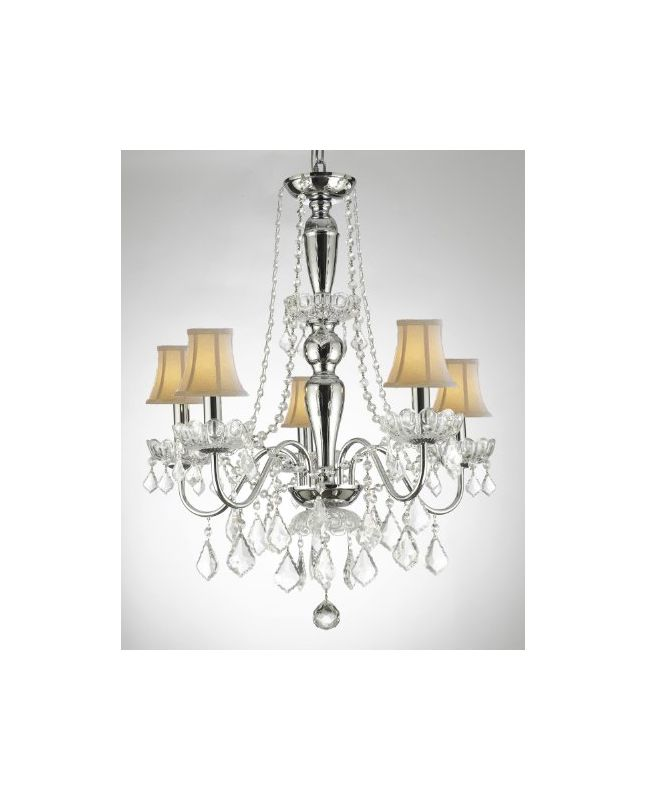 Gallery T40-395 5 Light 1 Tier Crystal Chandelier with Clear Crystals Sale $202.48 ITEM: bci2432154 ID#:T40-395 UPC: 738759834712 :