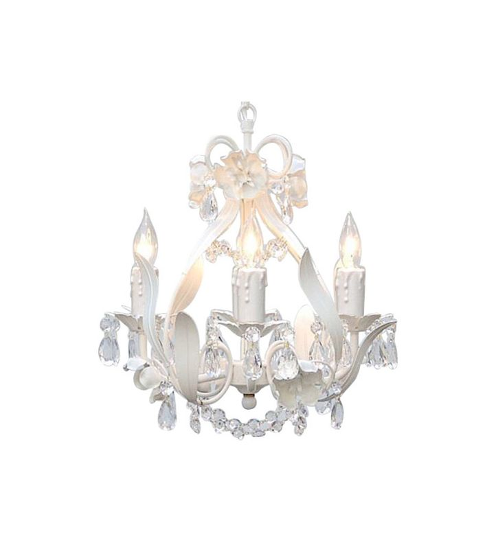 Gallery T40-423 4 Light 1 Tier Crystal Mini Chandelier with Clear