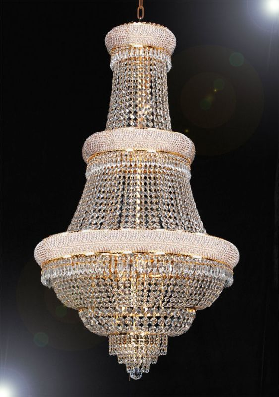Gallery T40-430 French Empire 21 Light 1 Tier Crystal Chandelier with