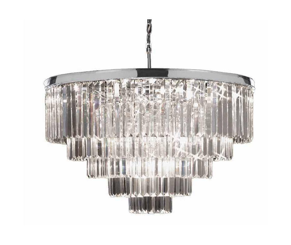 Gallery T40-645 Odeon 18 Light 5 Tier Crystal Chandelier Chrome Indoor