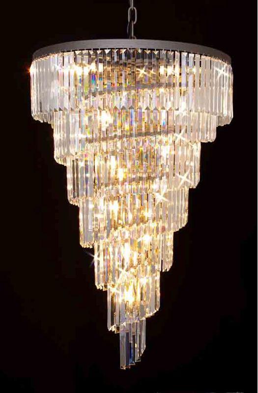 "Gallery T40-650 Odeon 28 Light 7 Tier 30"" Wide Crystal Chandelier"