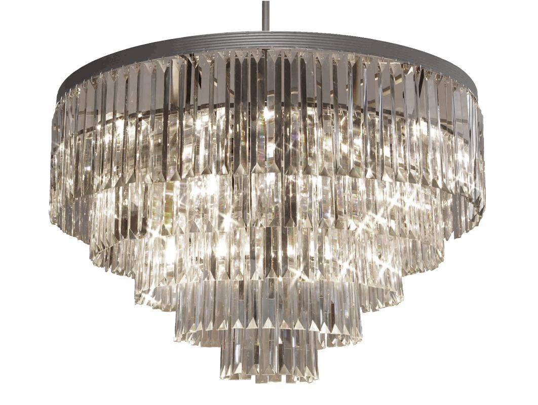 Gallery T40-355 Odeon 17 Light 5 Tier Crystal Chandelier with Clear