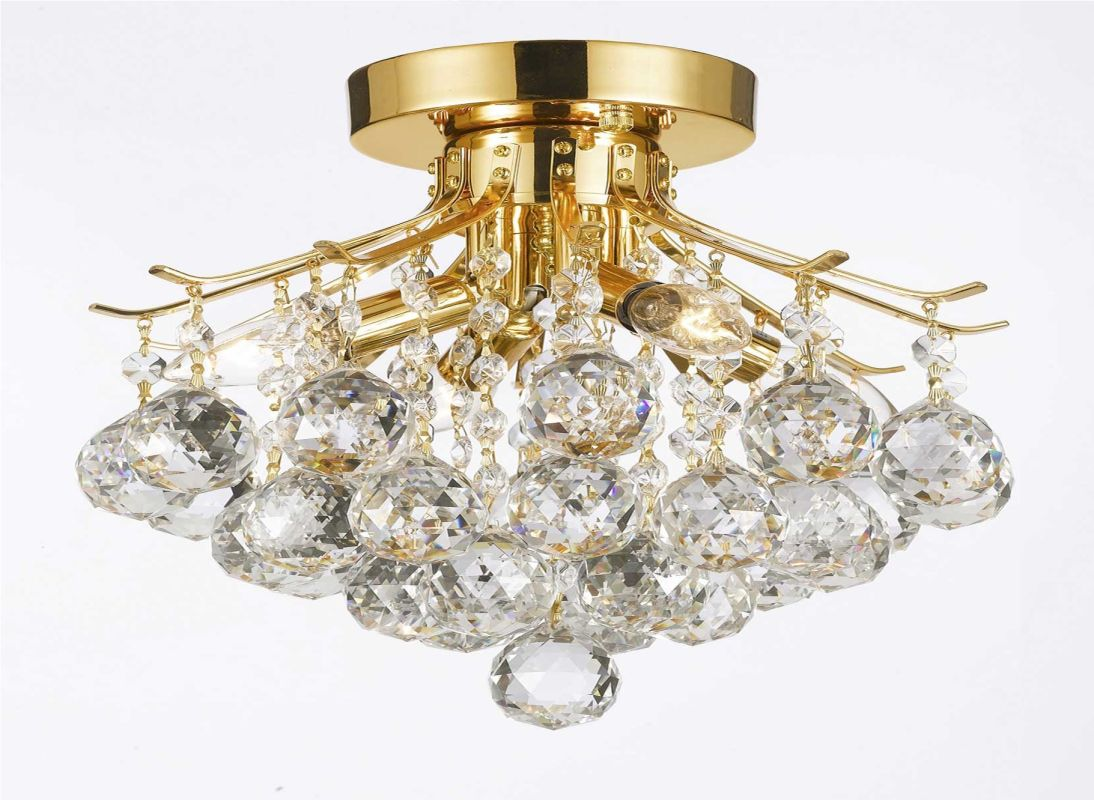 Gallery T40-387 4 Light 1 Tier Crystal Mini Chandelier with Clear