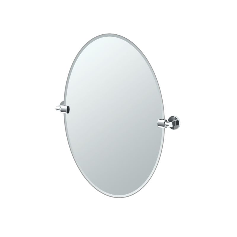 """Gatco 4109 Zone 24"""" Oval Beveled Wall Mounted Mirror with Chrome"""