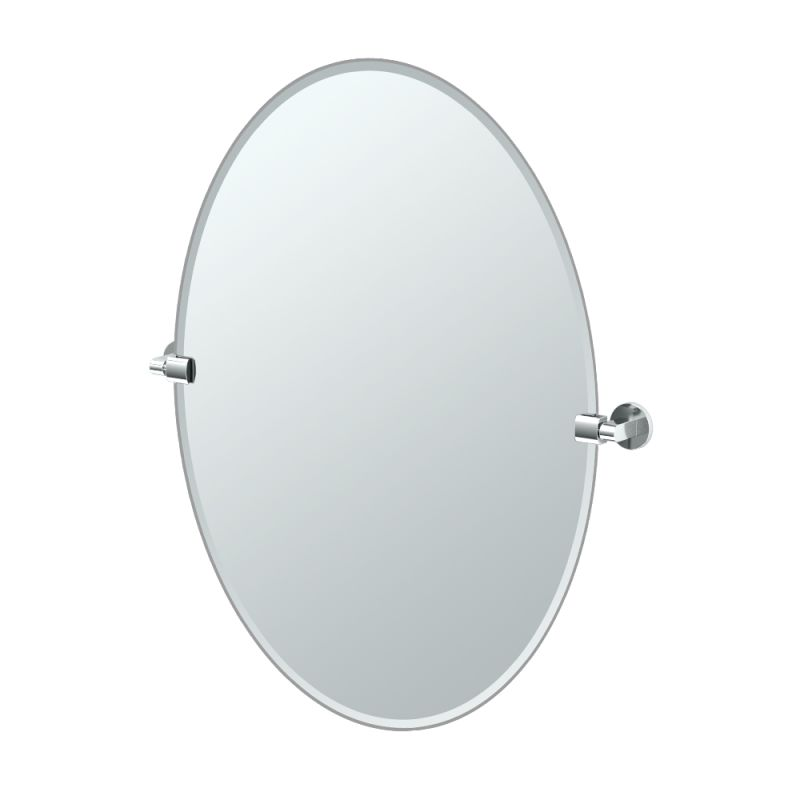 """Gatco 4109LG Zone 28-1/2"""" Oval Beveled Wall Mounted Mirror with Chrome"""