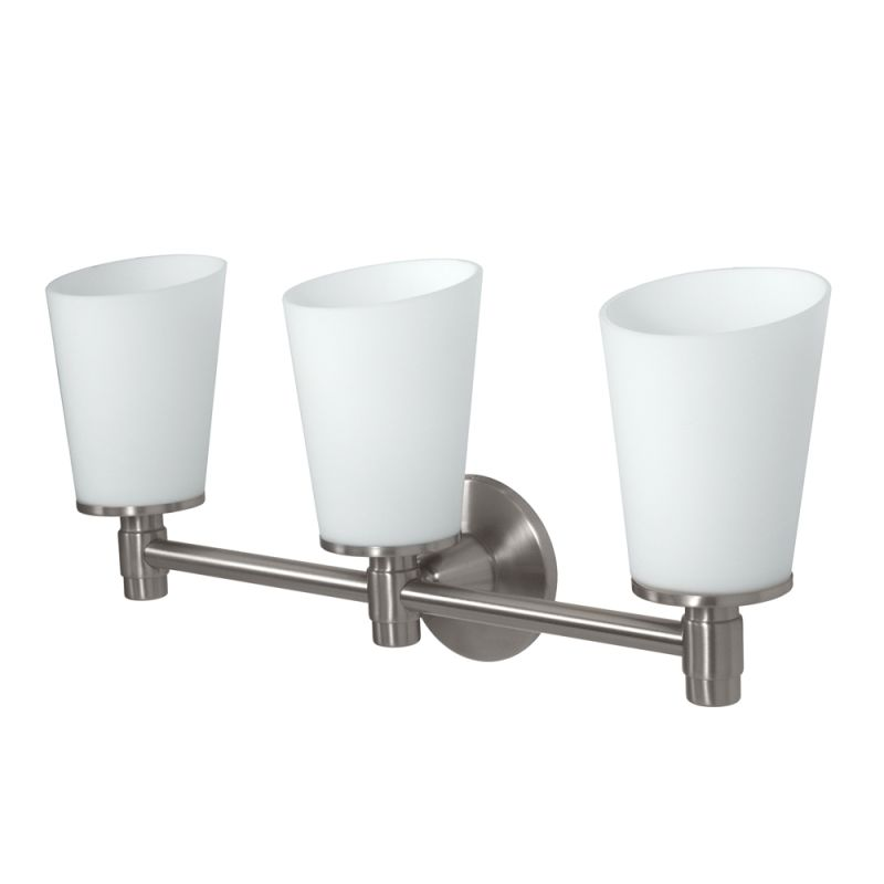 Gatco GC1667 Triple Light Bath Sconce from the Max Series Satin Nickel