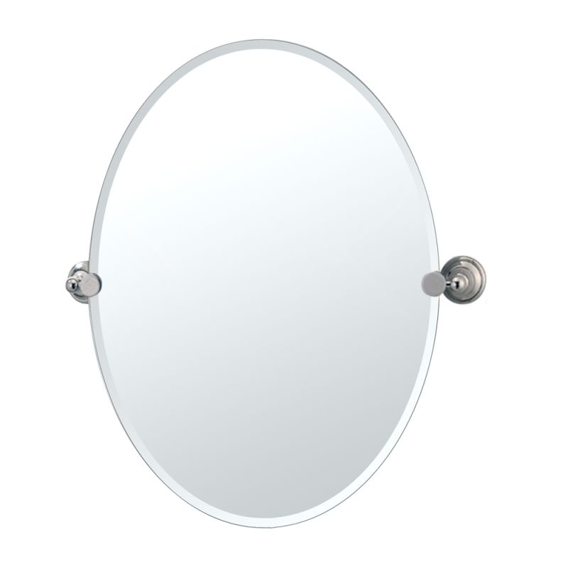 Gatco GC4589 Oval Mirror from the Laurel Avenue Series Polished Nickel