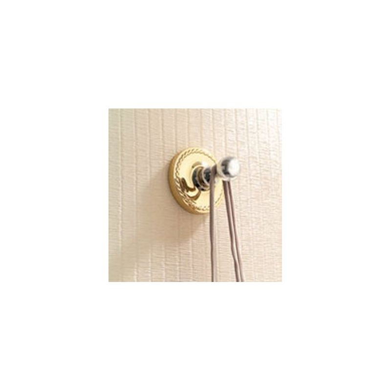 Ginger 1510 Canterbury Single Hook Robe Hook Polished Brass Accessory