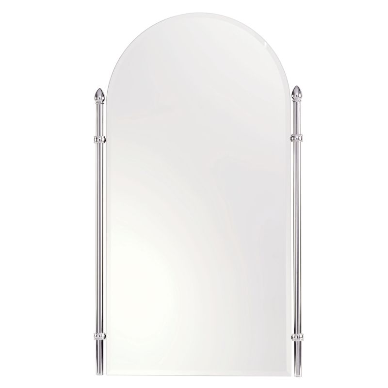 """Ginger 1541 Cantebury 20.4"""" Arched Mirror with Beveled Edge and Frame"""