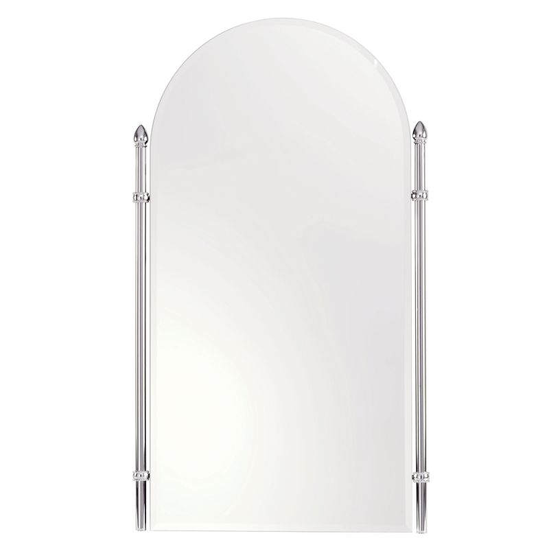 "Ginger 1542 Cantebury 26.4"" Arched Mirror with Beveled Edge and Frame"