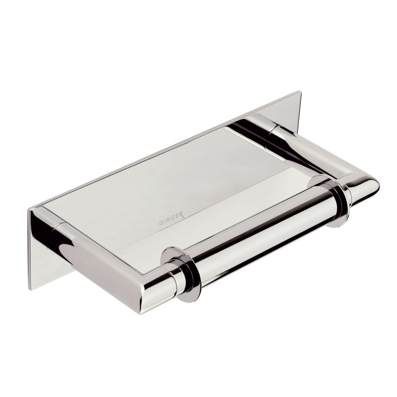 Ginger 2808 Surface Double Post Toilet Paper Holder Polished Chrome
