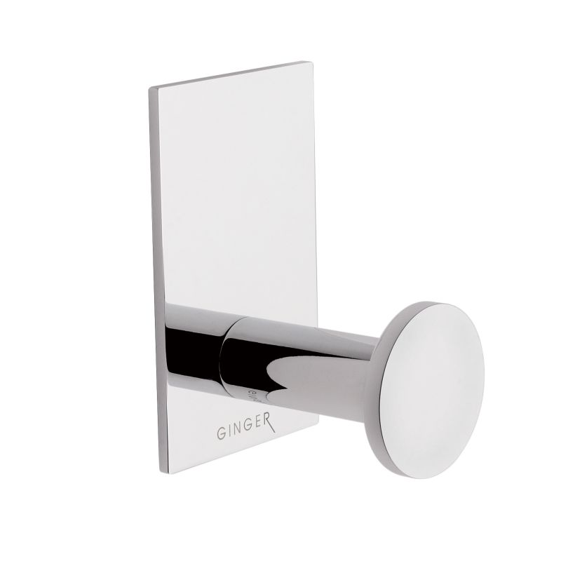 Ginger 2810 Surface Single Hook Robe Hook Polished Chrome Accessory