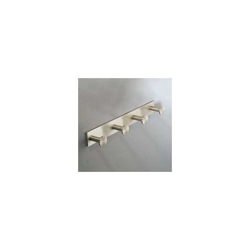 Ginger 2810Q Surface Four Hook Robe Hook Satin Nickel Accessory