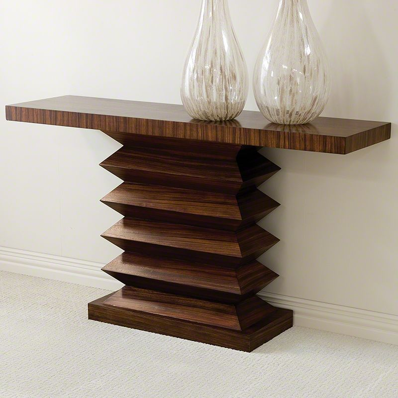 Global Views 2262 Zig Zag Console Table Wood Furniture Console Tables