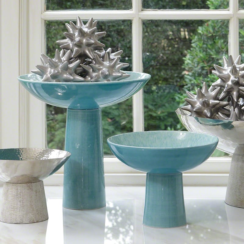 Global Views Chamomile Footed Bowl - Available in 2 Sizes Small Bowl
