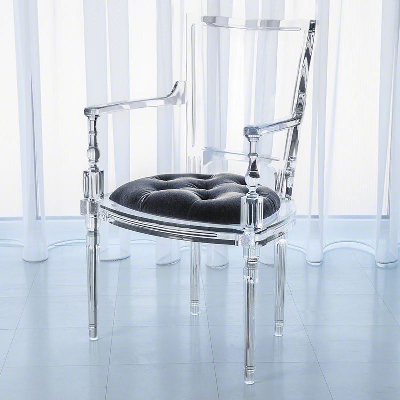 Global Views Marilyn Acrylic Arm Chair Italian Made Acrylic and Mohair Sale $6246.50 ITEM: bci2713551 ID#:3.31172 UPC: 651083311721 :