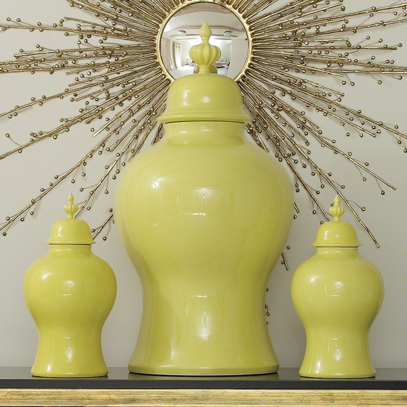Global Views 4.80112 Beaufort Ginger Jar Large Apple Green Home Decor