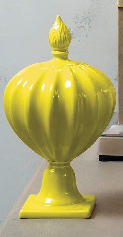 Global Views 4.80114 Beaufort Flame Bottle Apple Green Home Decor
