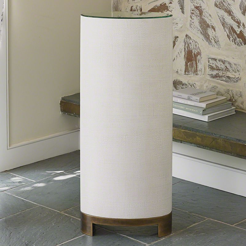 Global Views 7.20090 Ellipse Pedestal Belgian Linen Furniture