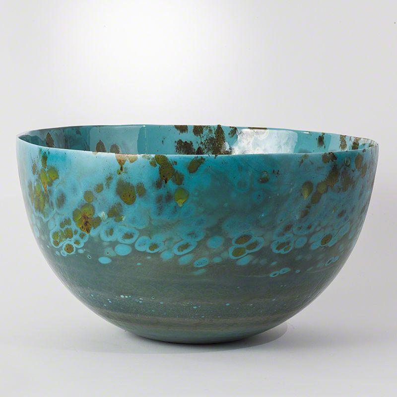 Global Views 7.30047 Italian Murano Glass Handmade Bowl Celestial Home