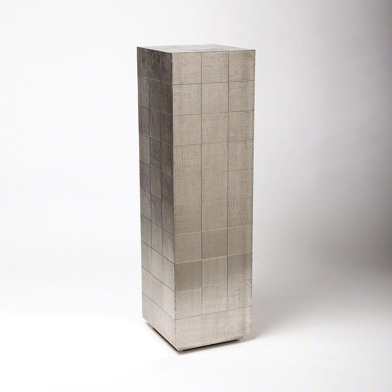 "Global Views 7.90042 41.5"" Punch Pedestal German Silver Furniture"