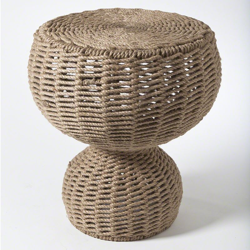 """Global Views 7.90114 16.5"""" Rope Stool or Iron Table Iron Furniture"""