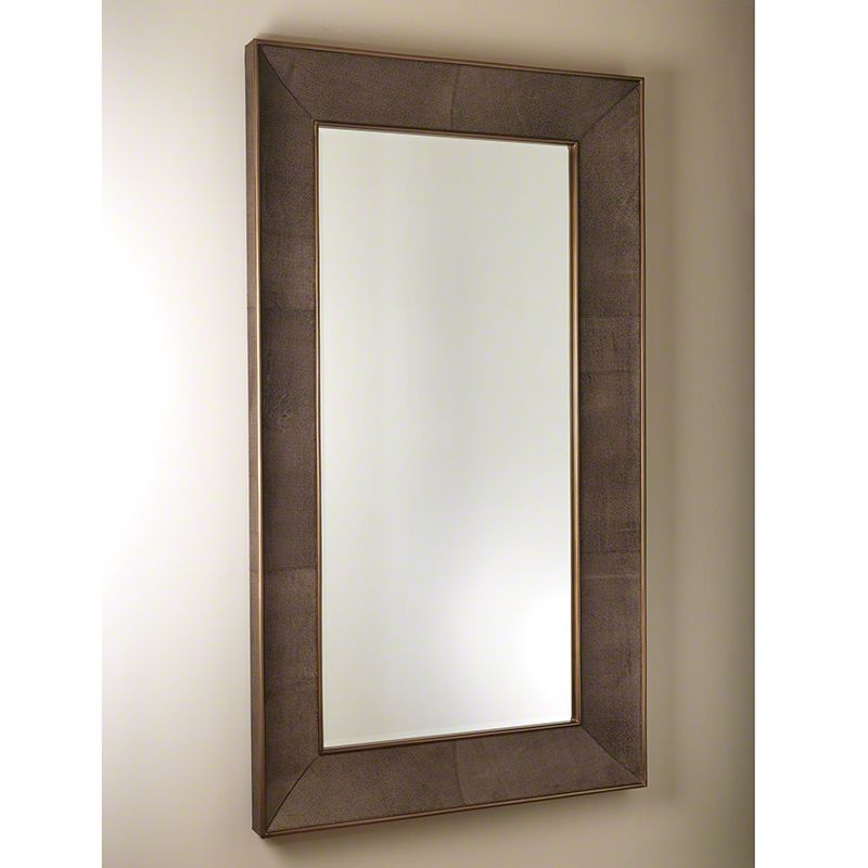"Global Views 7.90323 Churchill Rectangular Floor Mirror 84"" x 48"" Gold"