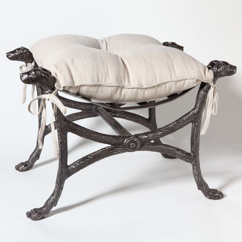 Global Views 7.80063 Bow Wow Iron Bench Graphite Furniture Benches