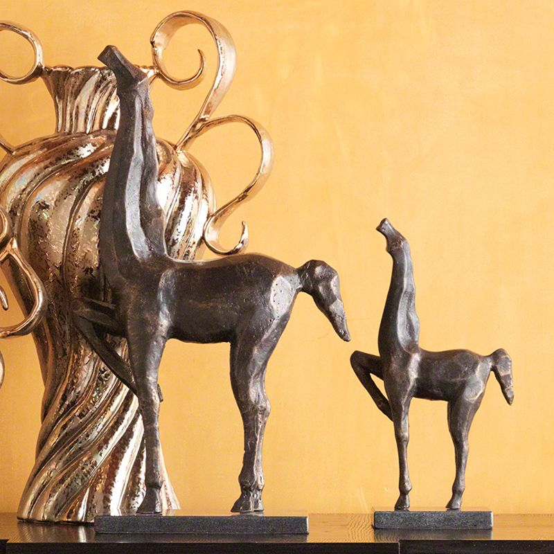 Global Views Bronze Cubist Horse Statue - Available in 2 Sizes Small