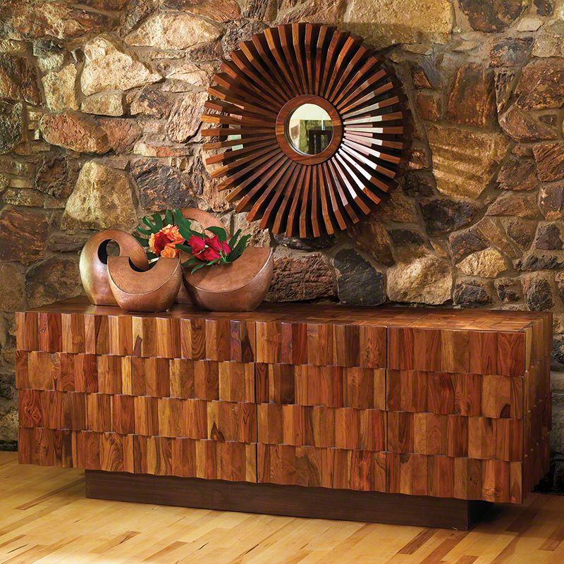Global Views 9.91303 Washboard Media Cabinet Teak Furniture Cabinets