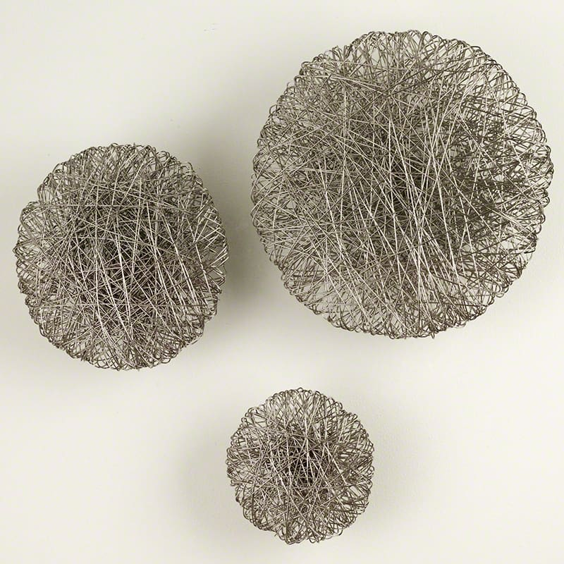 Global Views Wired Nickel Wall Disc - Available in 3 Sizes 8 Inch Disc