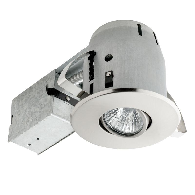 """Bathroom Recessed Lighting Kit: Globe Electric 90442 Brushed Nickel 4"""" Sleek Directional"""