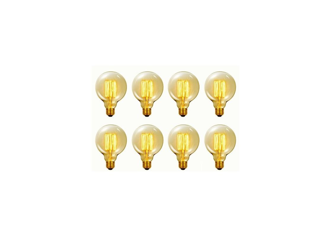 Globe Electric 31320 Pack of (8) 60 Watt Dimmable G30 Medium (E26)