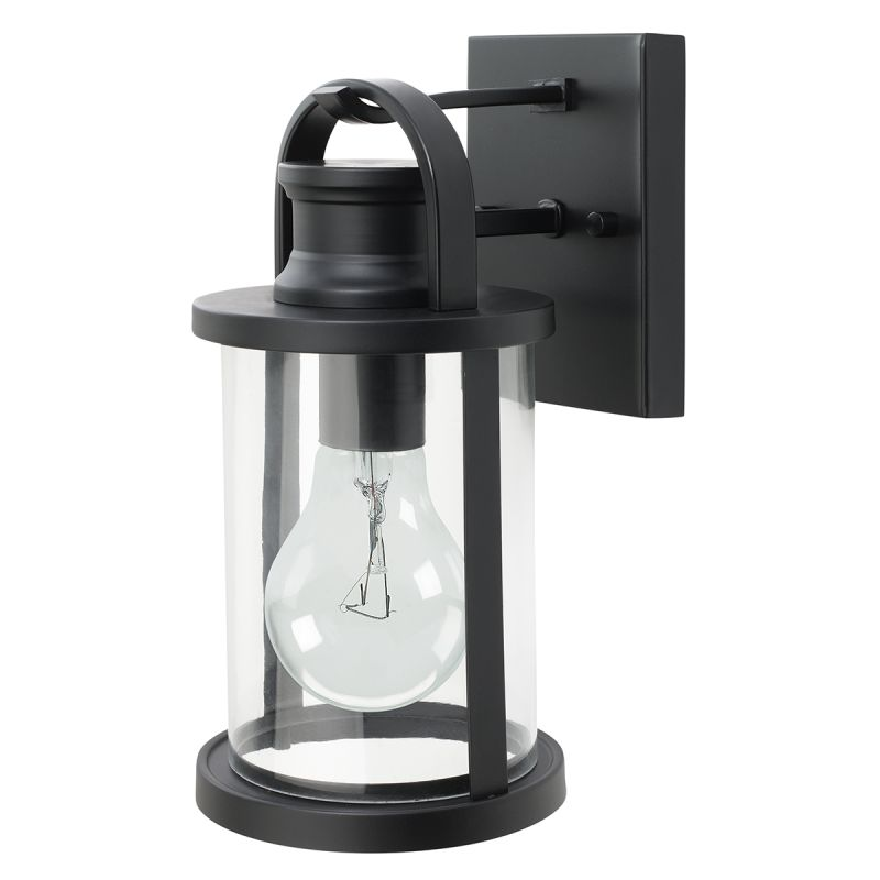 Solar Patio Lights Canadian Tire: Globe Electric 43532 Black 11.5 Inch Outdoor Wall Lantern
