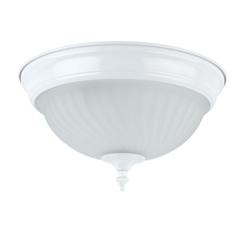 Globe Electric 6261201 White 1 Light 11 Inch Flush Mount