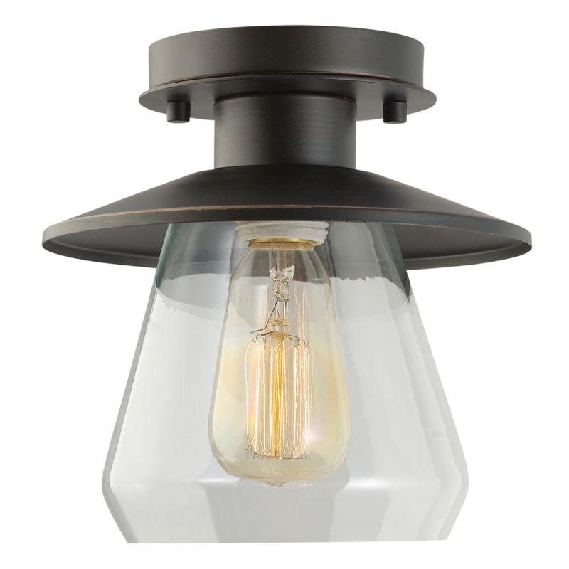 Electrical Fixtures: Globe Electric 64846 Oil Rubbed Bronze 1 Light Semi-Flush