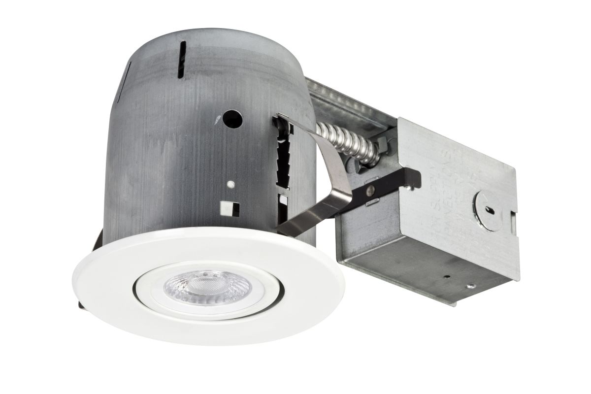 """Globe Electric 90746 5"""" Recessed Lighting LED Kit White Recessed"""
