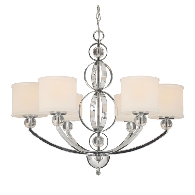Golden Lighting 1030-6 CH Chrome Contemporary Cerchi Chandelier