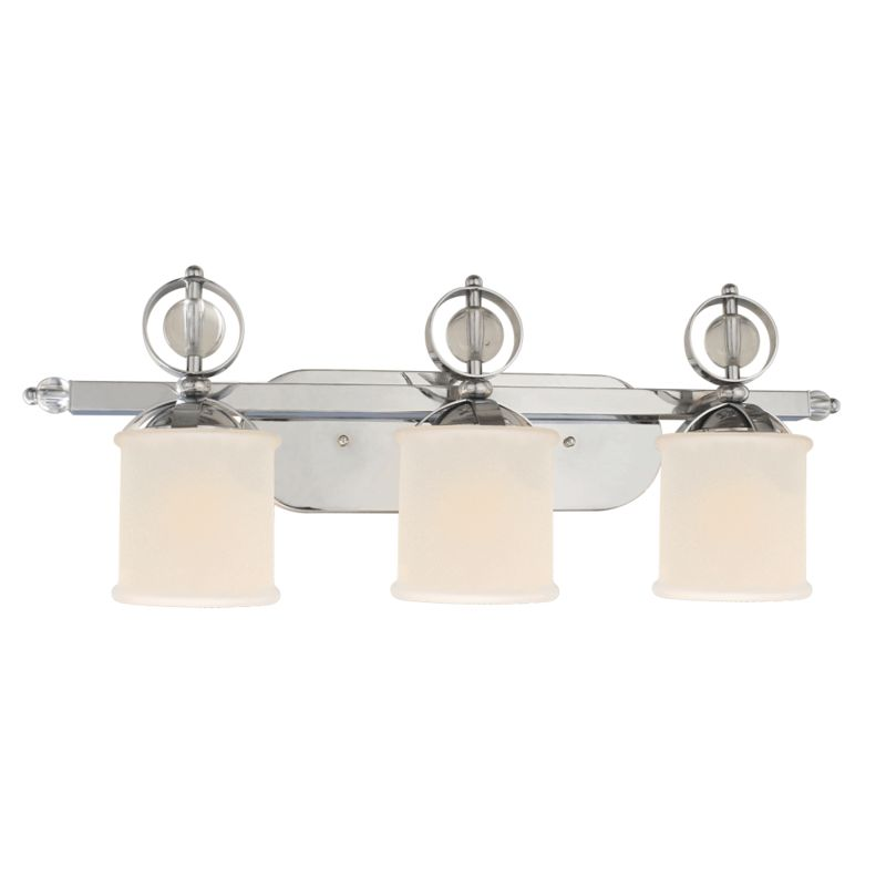 Golden Lighting 1030-BA3 CH Chrome Contemporary Cerchi Bathroom Light