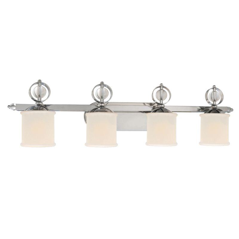 Golden Lighting 1030-BA4 CH Chrome Contemporary Cerchi Bathroom Light