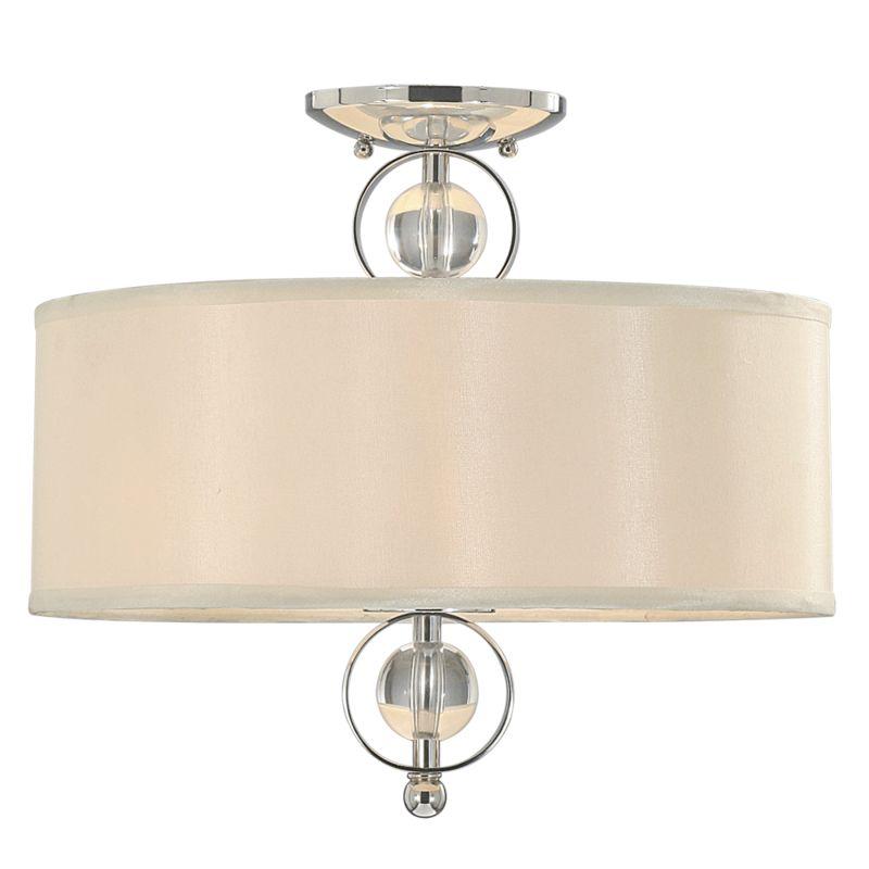 Golden Lighting 1030-SF CH Chrome Contemporary Cerchi Ceiling Light