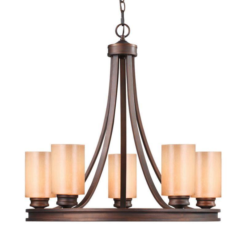 Golden Lighting 1051-5 Hidalgo 5 Light Chandelier Sovereign Bronze