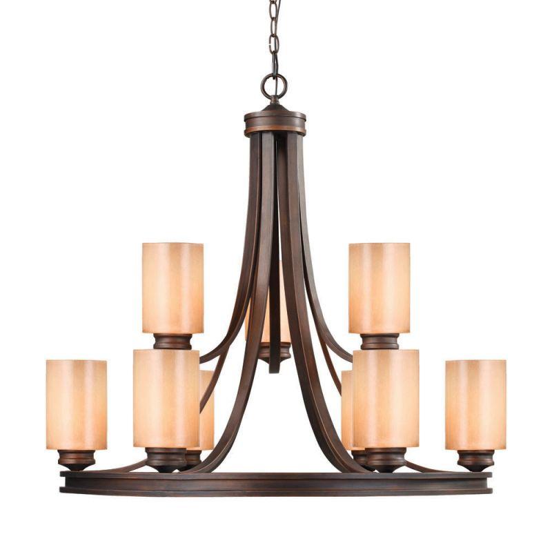 Golden Lighting 1051-9 Hidalgo 9 Light Chandelier Sovereign Bronze