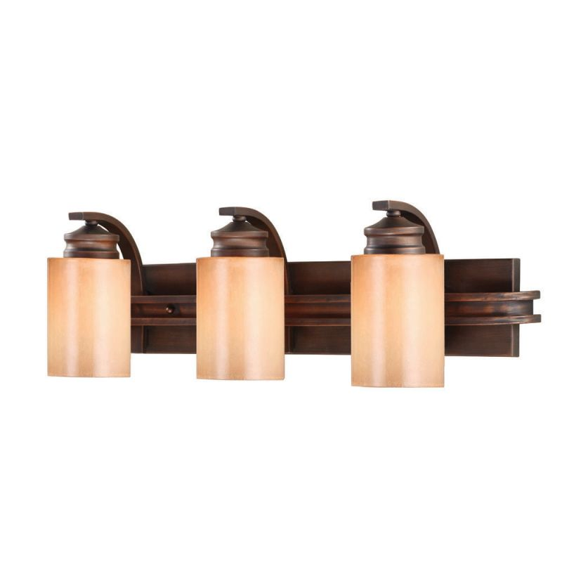Golden Lighting 1051-BA3 Craftsman / Mission Three Light Wall Sconce